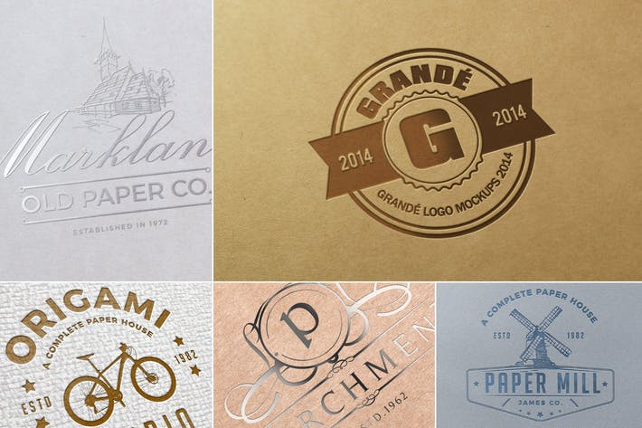 Thumbnail for Paper Logo Mockups