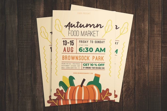Thumbnail for Autumn Food Festival Flyer
