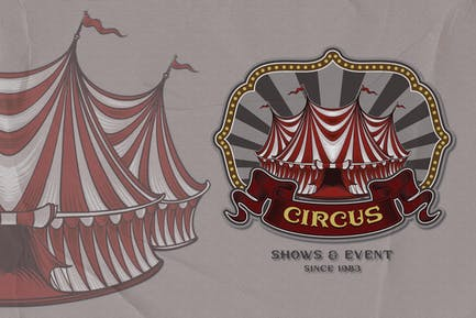 Tent - Circus Emblem