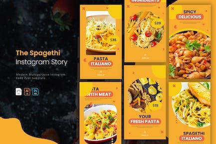 Spagethi et pâtes | Histoire Instagram