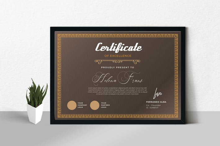 Cover Image For Certificate / Diploma Template