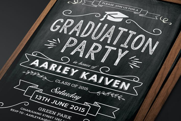 Thumbnail for Blackboard Graduation Invitation