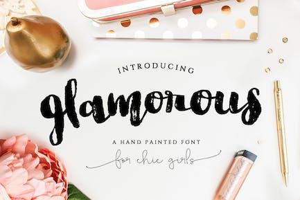 Glamorous Brush Font