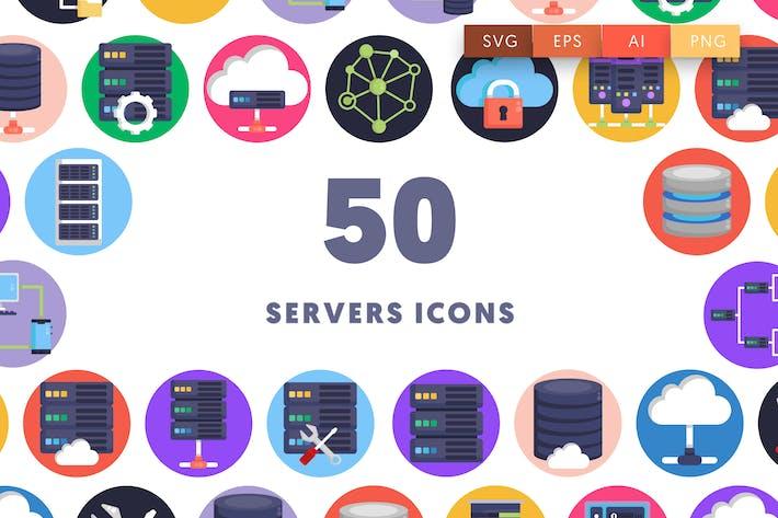 50 Servers Icons