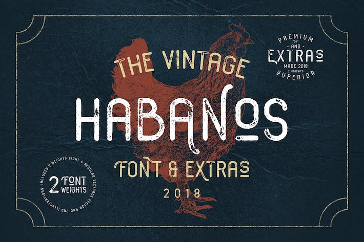 Thumbnail for Habanos Retro Font
