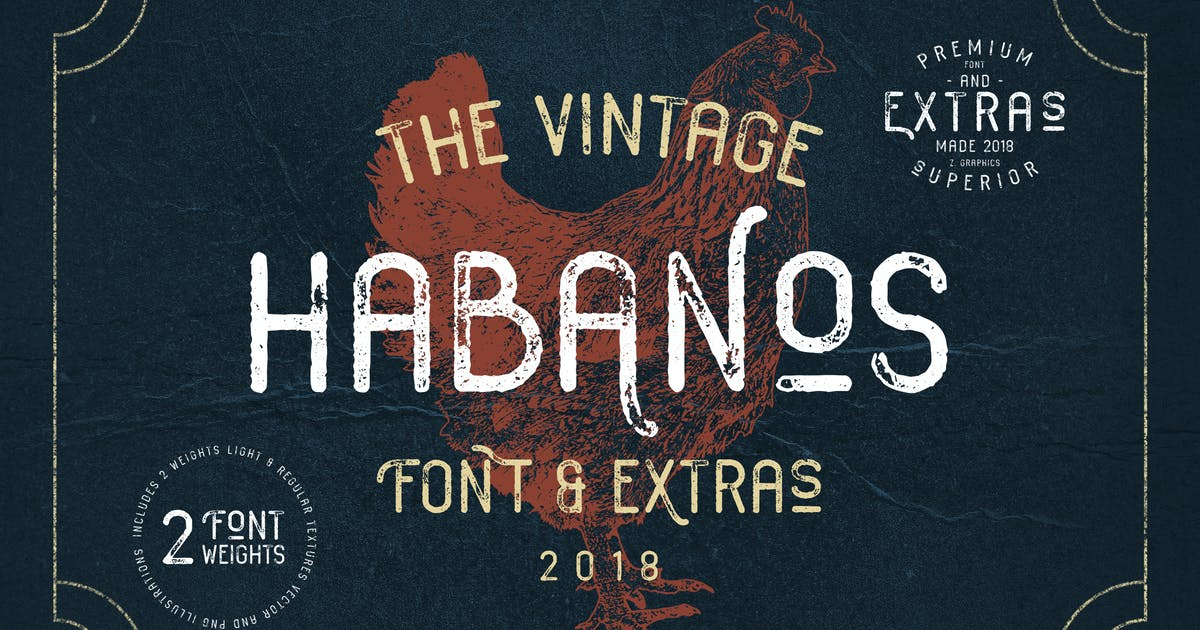 Download Habanos Retro Font by Zeppelin_Graphics