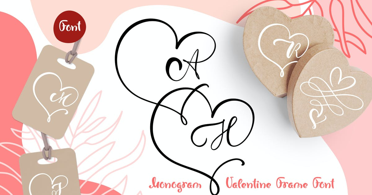 Download Monogram Heart Flourish Font by timonko