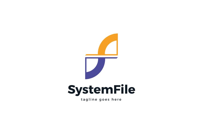 Thumbnail for System File F Letter Logo Template