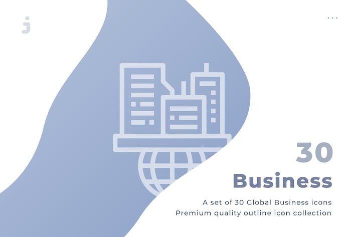 Thumbnail for 30 Global Business Icons