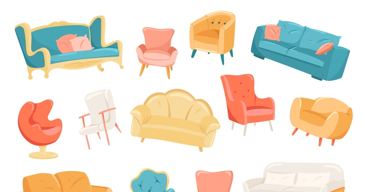 Download Furniture Isolated Elements Set by alexdndz