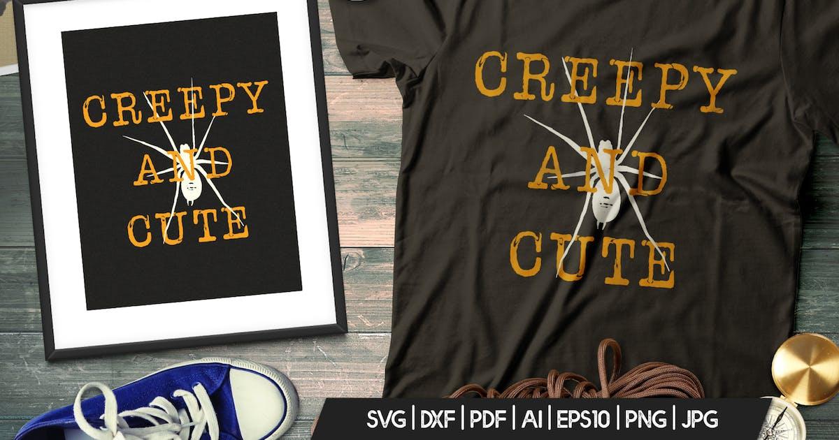 Download Halloween Creepy Print T-Shirt. Retro Badge Design by JeksonJS
