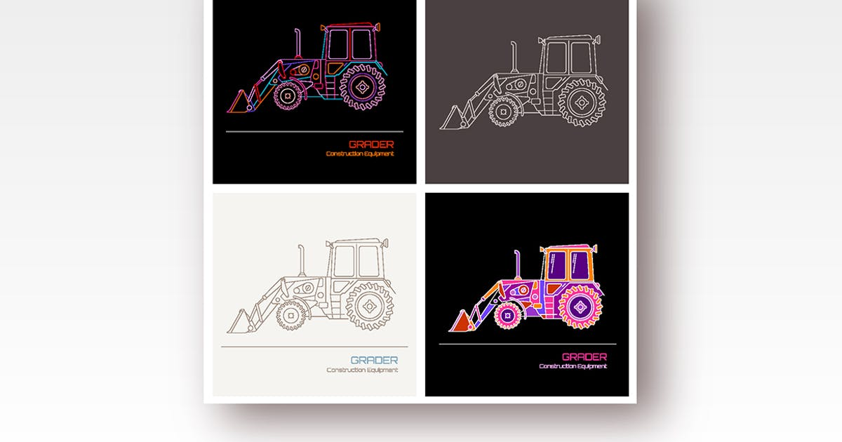 Download Grader (4 options) vector illustrations by danjazzia