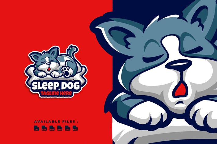 Thumbnail for Sleep Dog Cartoon Logo