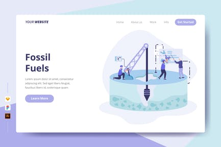 Fossil Fuels - Landing Page