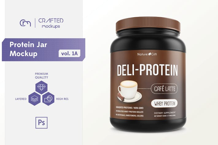 Thumbnail for Protein Jar Mockup vol. 1A