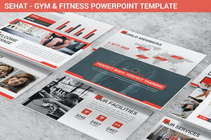 Thumbnail for Sehat - Strong Powerpoint Template