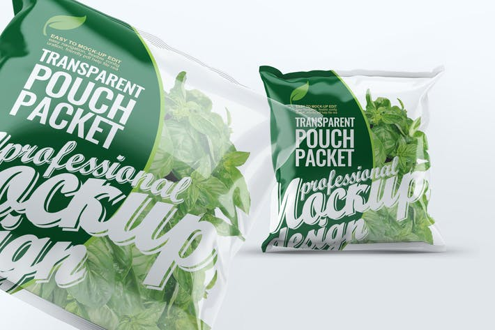 Thumbnail for Transparent Pouch Packet Mock-Up