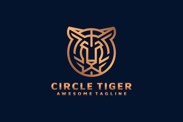 Thumbnail for TIGER CIRCLE LINE ART LOGO TEMPLATE