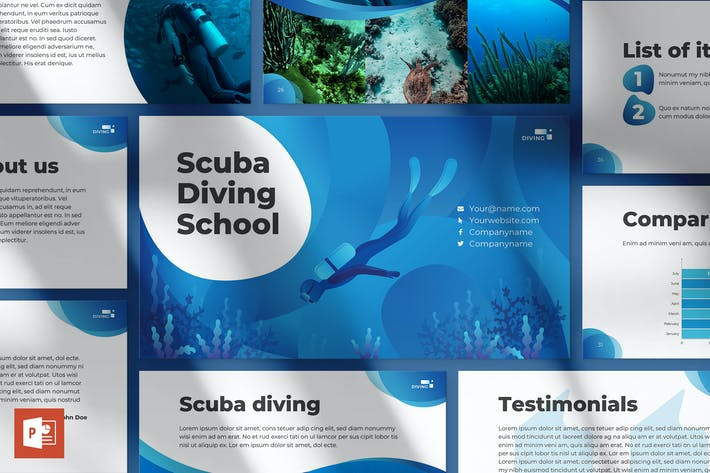 Thumbnail for Diving School PowerPoint Presentation Template