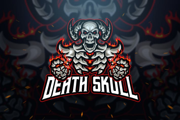 Thumbnail for Death Skull Logo and Esport Logo Template
