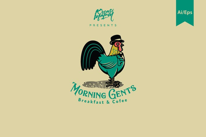 Cover Image For Morning Gents Logo Template