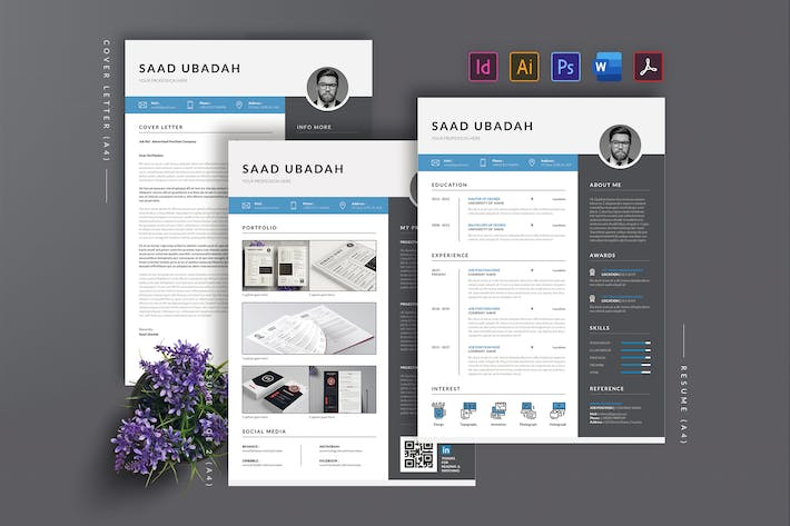 Thumbnail for Minimalist Resume Template AN