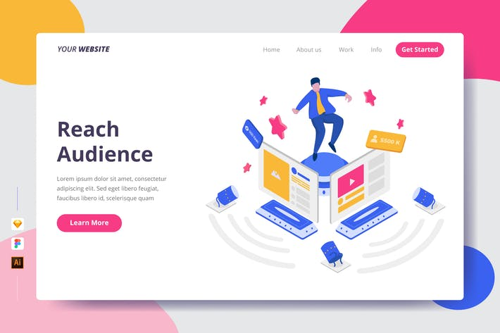 Thumbnail for Reach Audience - Landing Page