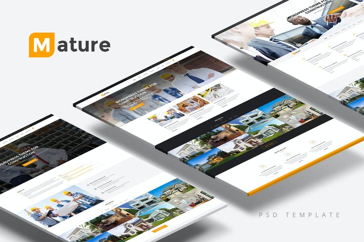 Thumbnail for Mature — Building & Construction PSD Template