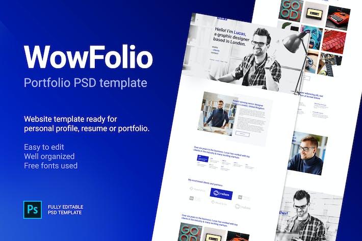 Thumbnail for WowFolio - Portfolio / Resume Onepage PSD template