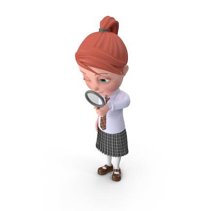 Cartoon Girl Grace Searching