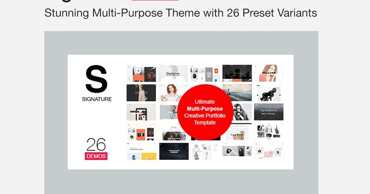 Download Signature - Ultimate Multi Purpose WordPress Theme by designova