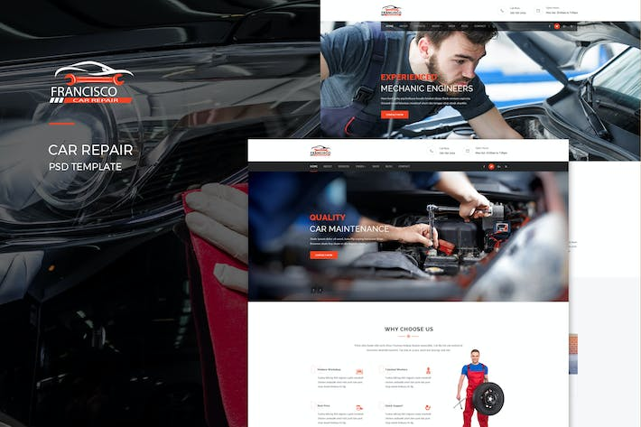 Thumbnail for Francisco : Car Repair PSD Template