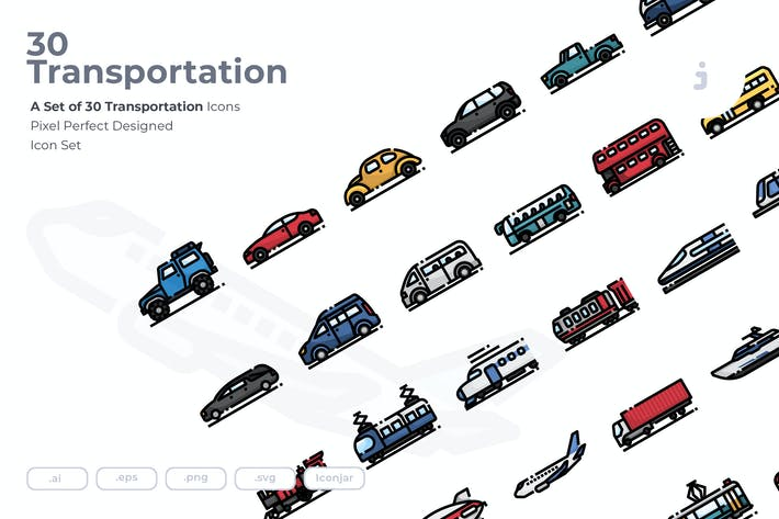 Thumbnail for 30 Transportation Icons