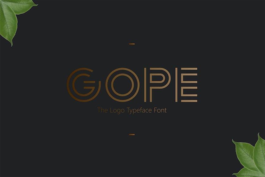 Gope-Typeface