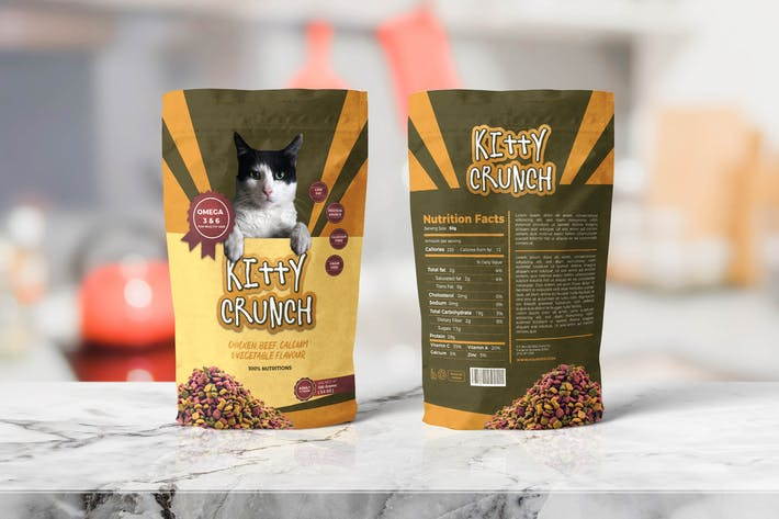 Thumbnail for Pet Food Pounch Bag Packaging Template