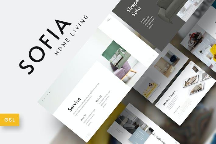 Thumbnail for Sofia - Home Interior Furniture Google Slides Temp