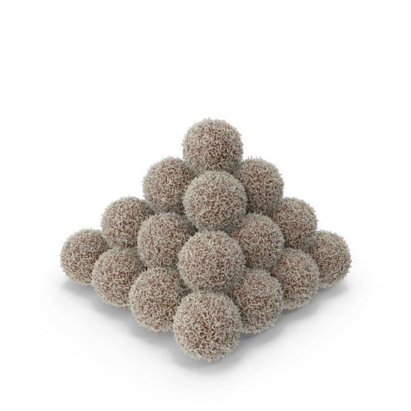 Pile of Chocolate Balls with Coconut
