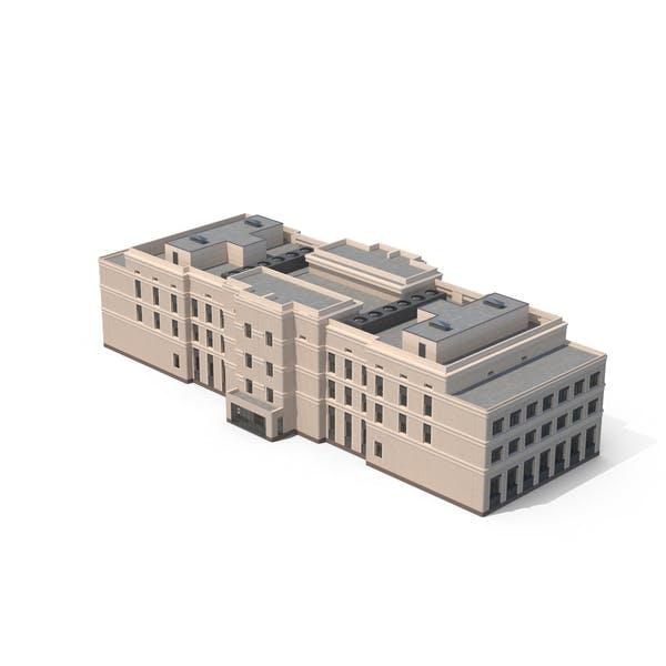 Industrielles Büro-Beige-Gebäude
