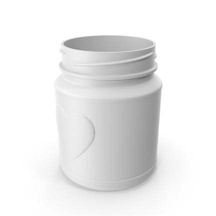 Jar Heart White without Lid