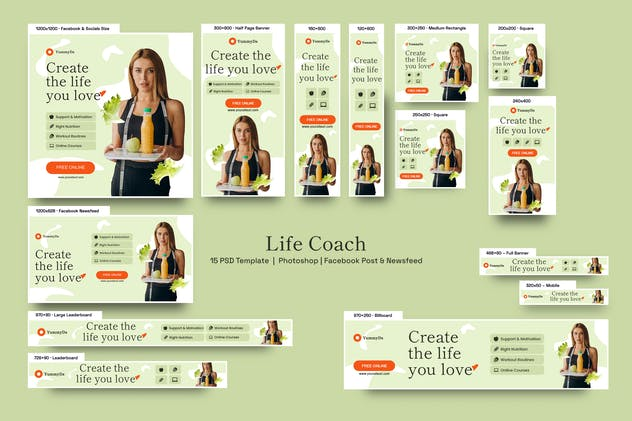 Life Coach Banners Ad