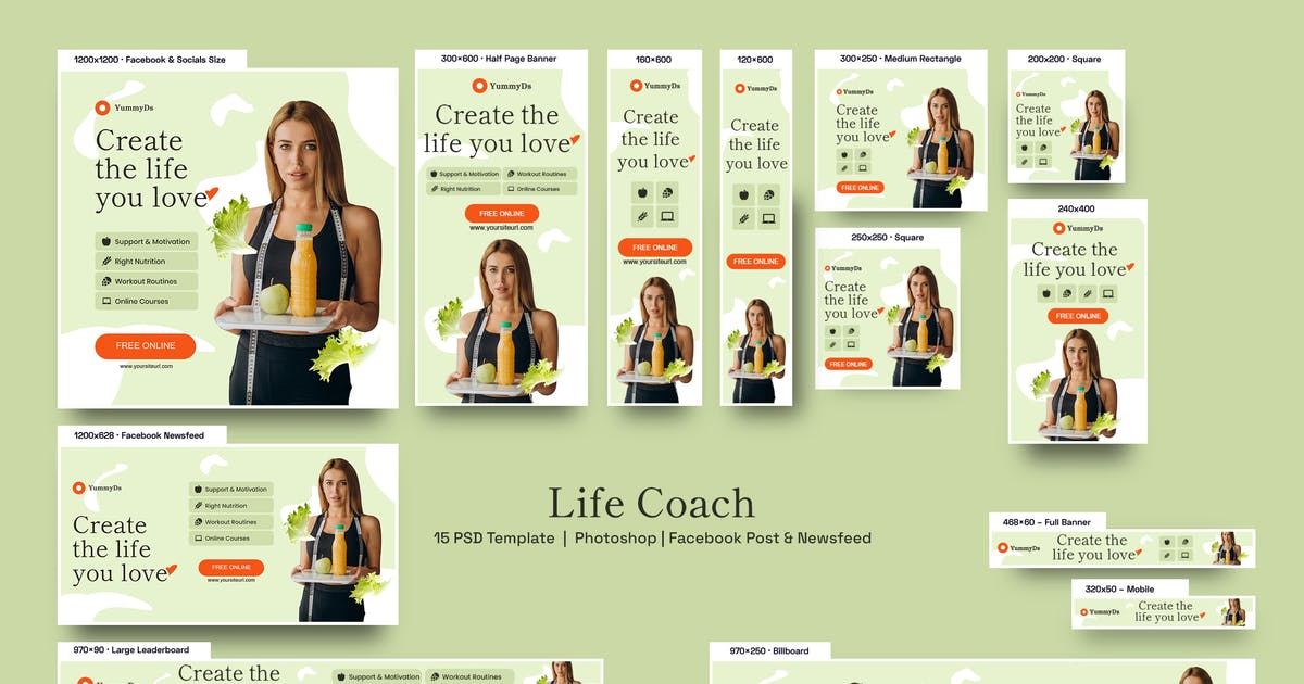 Download Life Coach Banners Ad by YummyDs