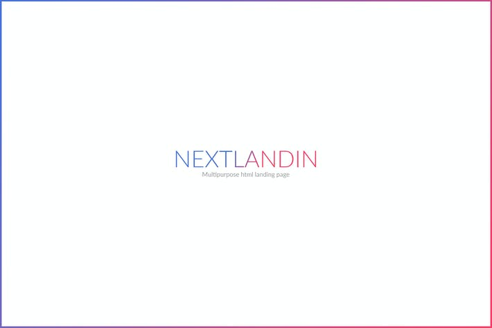Thumbnail for NEXTLANDIN - MULTIPURPOSE LANDING PAGE