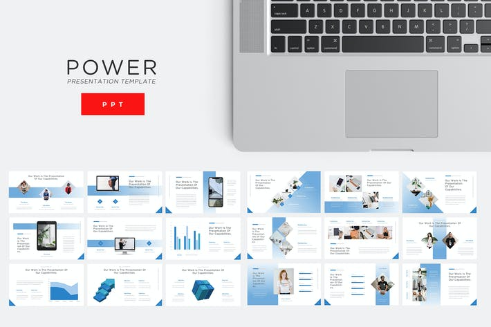Thumbnail for Power - Technology Powerpoint Template