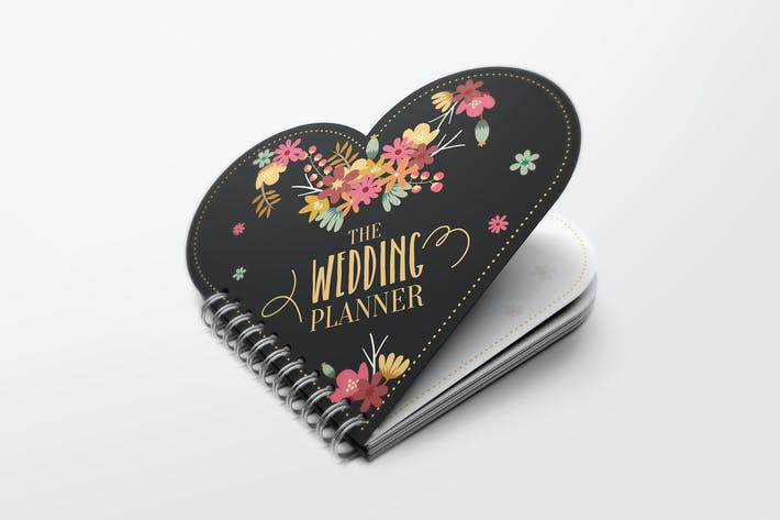 Thumbnail for Heart Shape Notebook Mockups