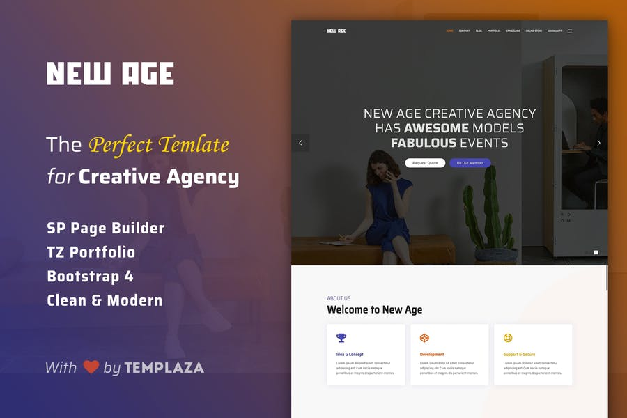 New Age - Creative Agency Joomla Template