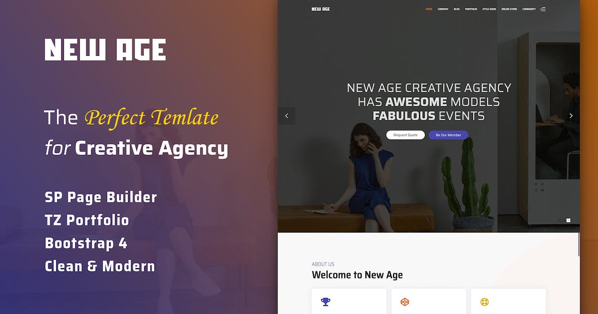 Download New Age - Creative Agency Joomla Template by templaza