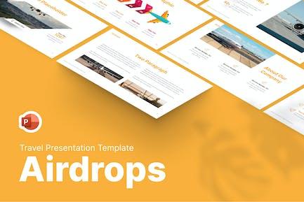 Современный Шаблон PowerPoint для путешествий Airdrops