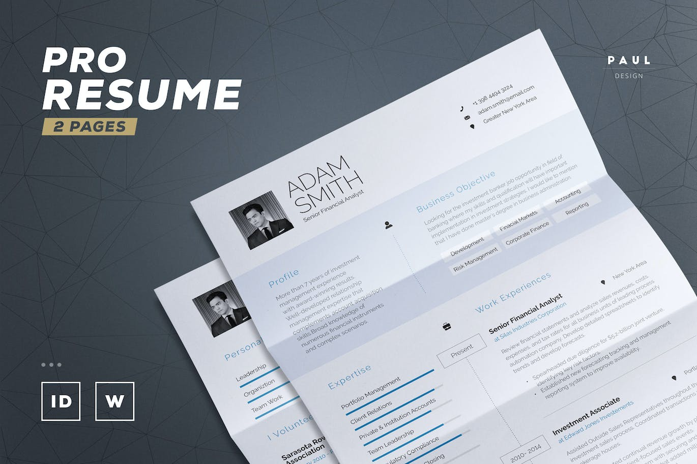 Clean Resume Cv Template Volume 7 By Paolo6180 On Envato Elements