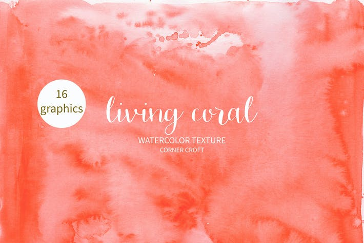 Thumbnail for Watercolor Texture Living Coral