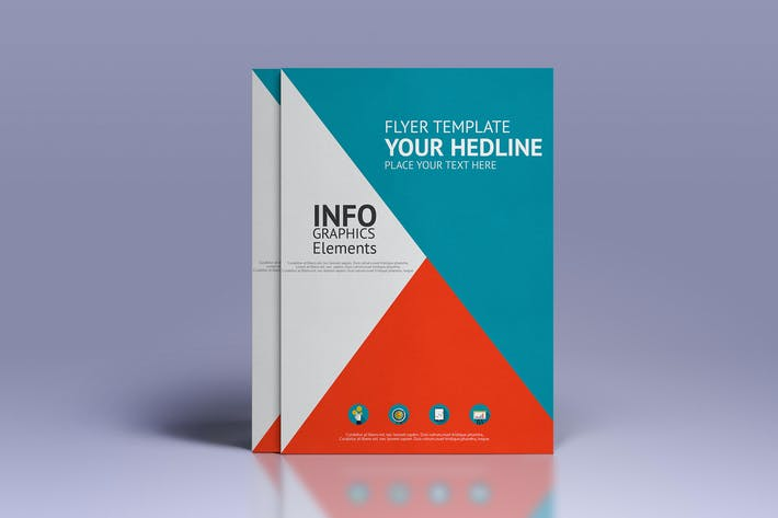 Cover Image For Business infographics elements for  brochures